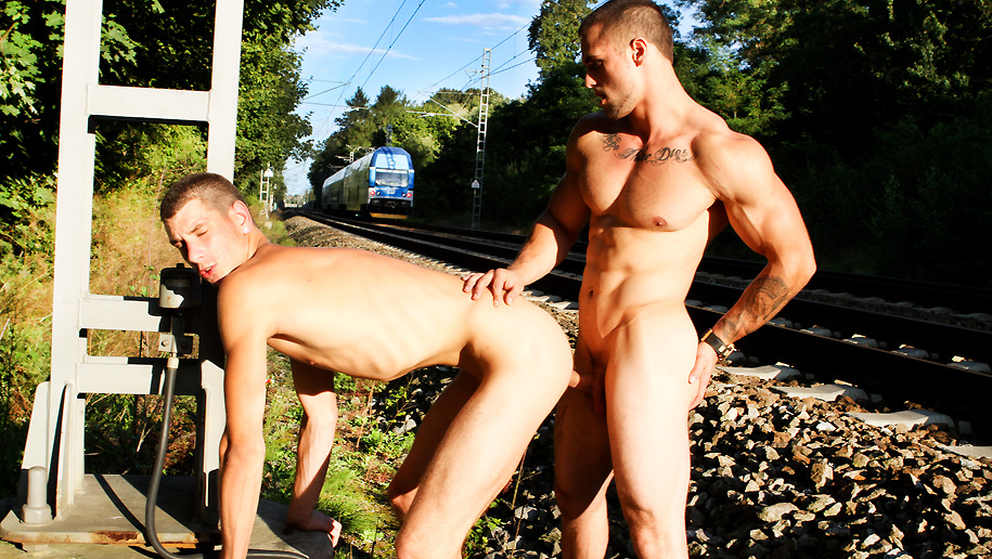 Gay bareback public sex