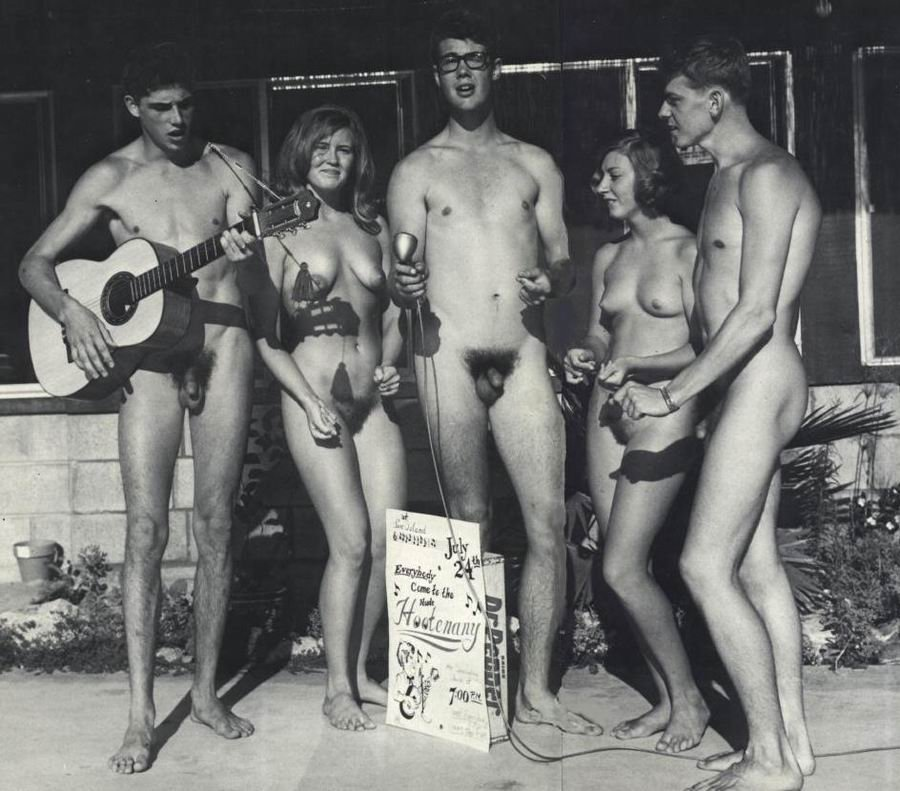 Vintage nudist families