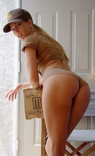 Ups delivery girl