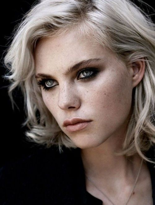 Hot freckled blonde girl