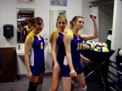 Girls having fun in locker room