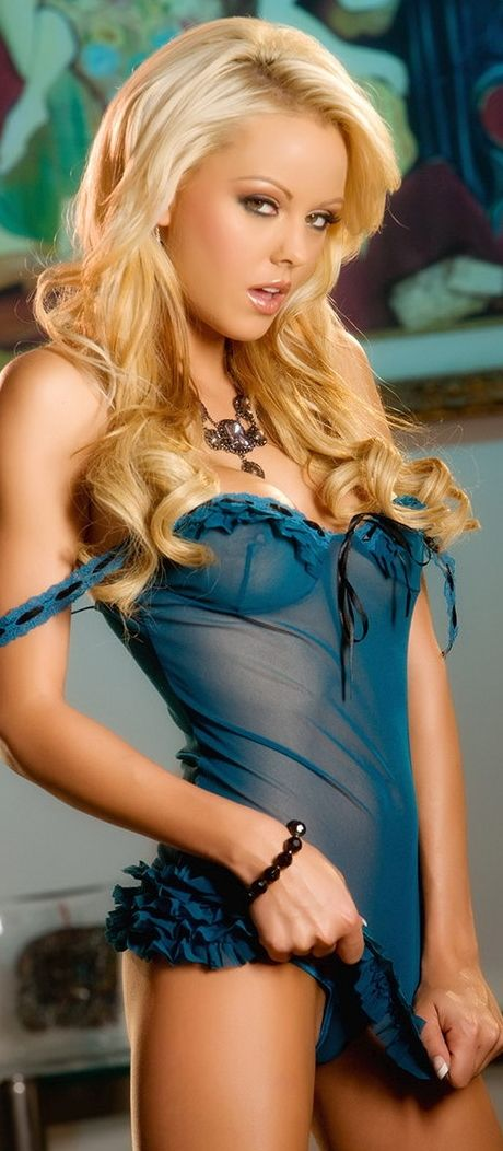 Lindsay marie blue lingerie
