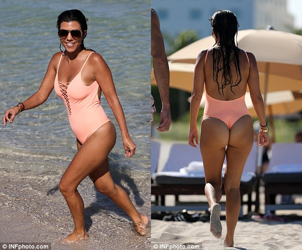 Kim kardashian ass thong