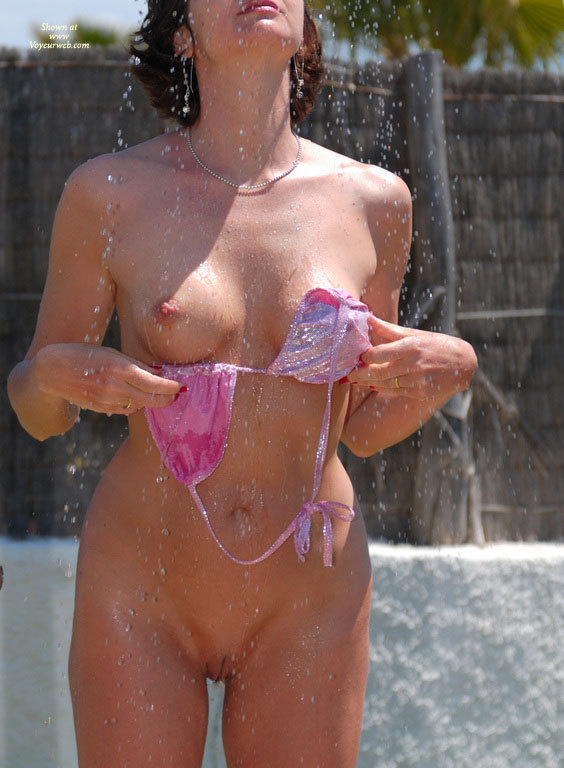 Outdoor shower nude girls