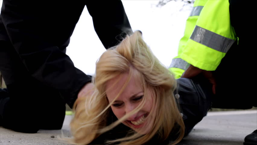 Girls arrested handcuffs
