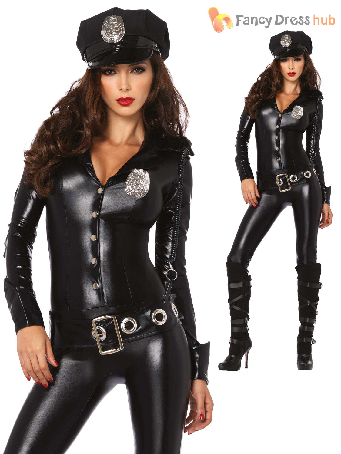 Sexy police woman uniform