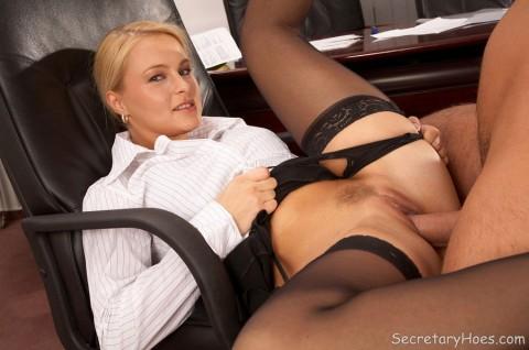 Office secretary nylon stockings