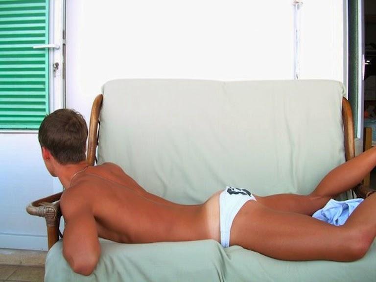 Teen feet and tan lines