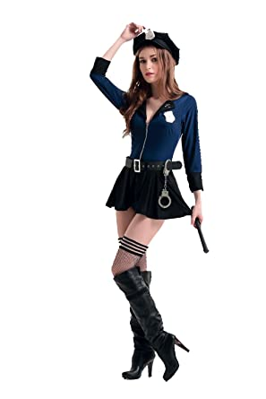 Sexy police woman uniform