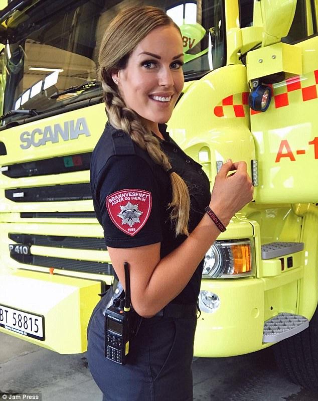 women female firefighter Nude