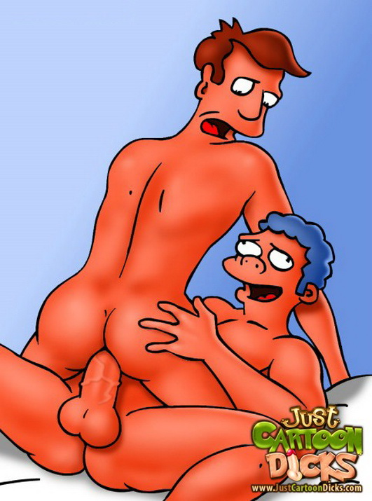 just cartoon s simpsons dick Gay
