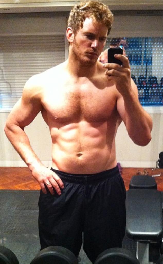 shirtless Chris pratt