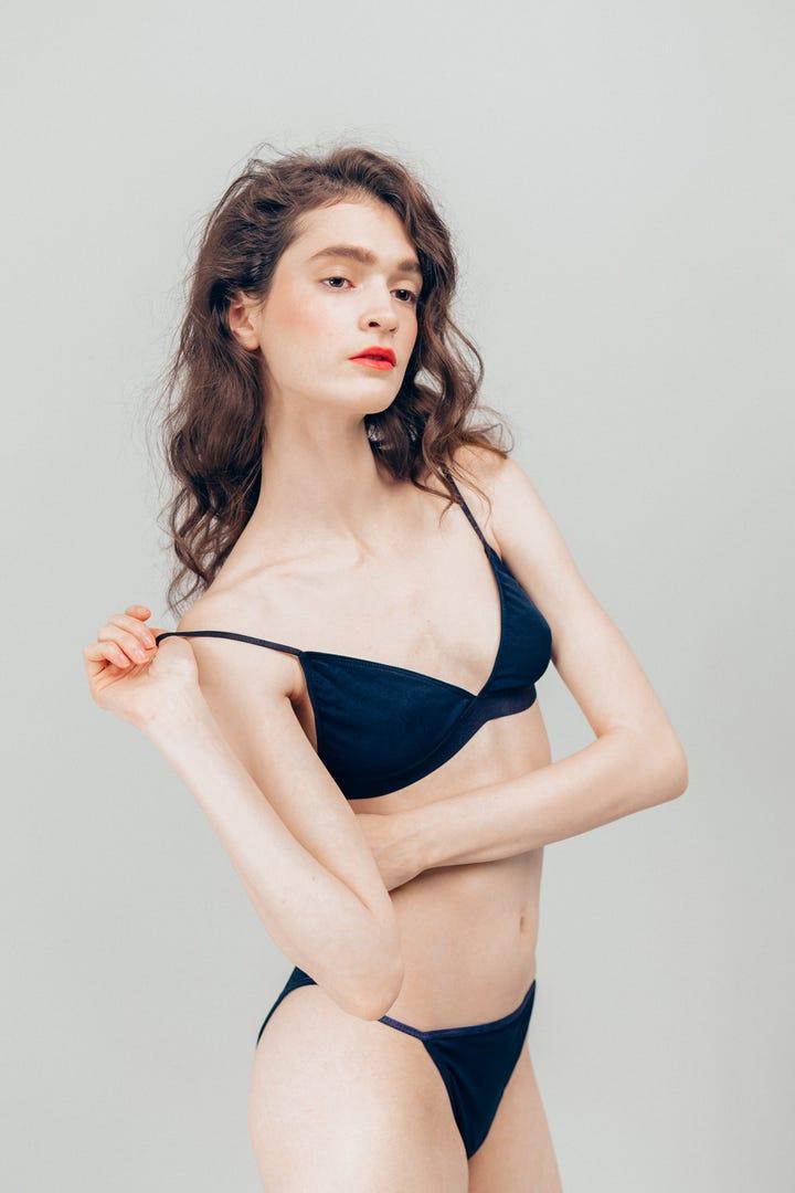 Tiny flat chested no tits