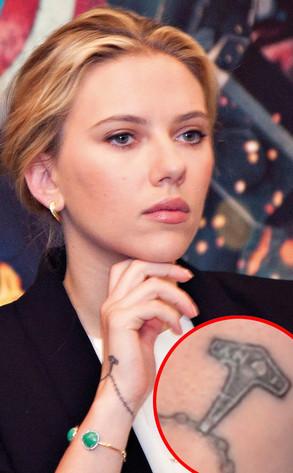 tattoo Scarlett johansson