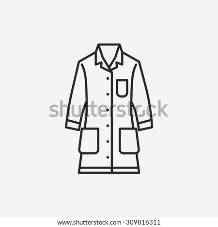Cartoon lab coat