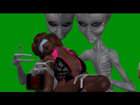 Girl captured by aliens cartoon