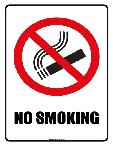 No smoking signs free