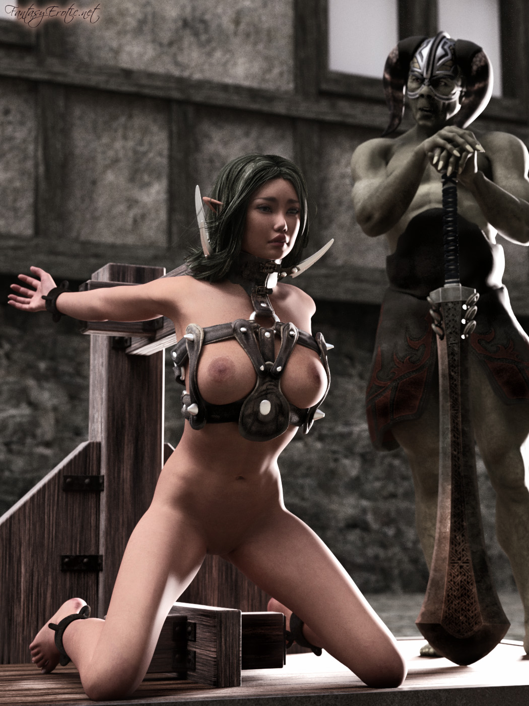 Fantasy elf woman nude