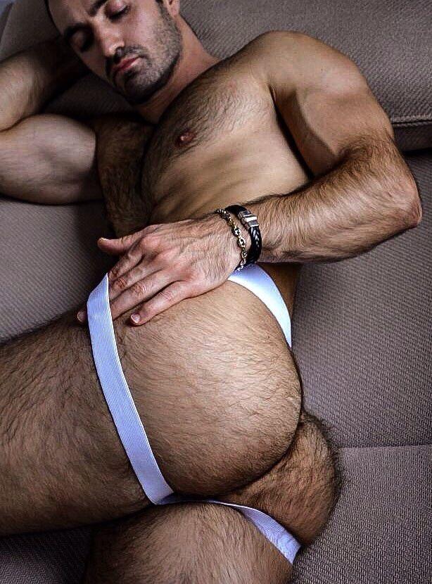 Hot naked hairy men fucking