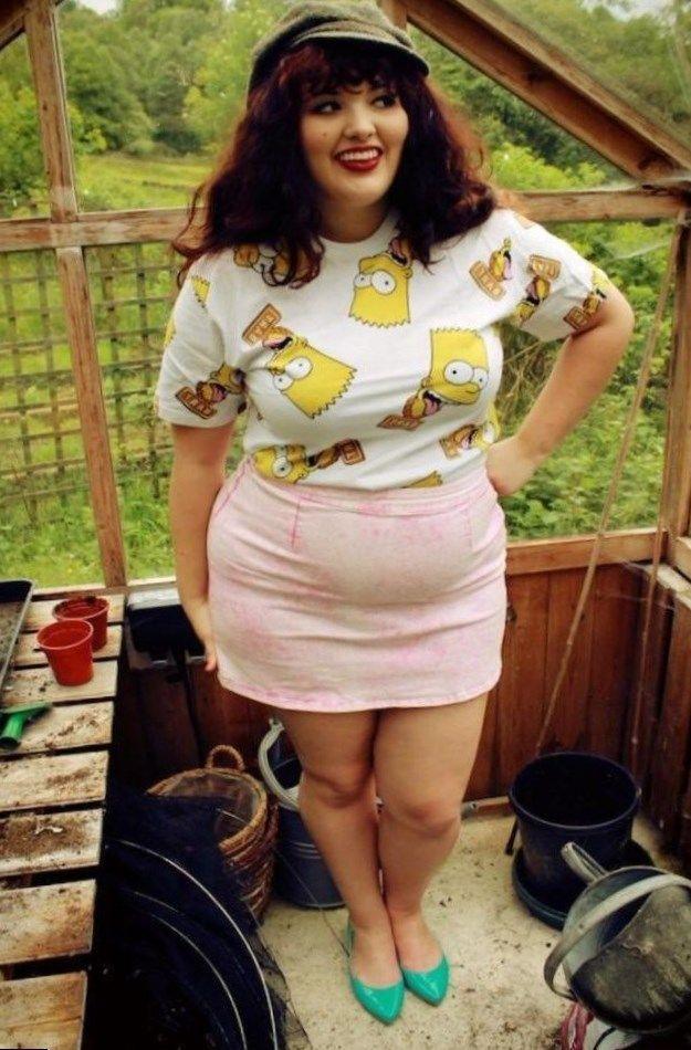Chunky fat cute teen