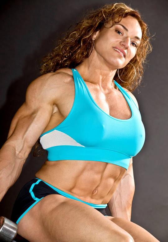 Woman female bodybuilder