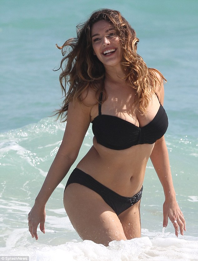 Kelly brook black swimsuit