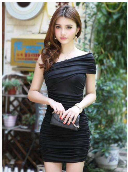 Asian wife in sexy tight skirt