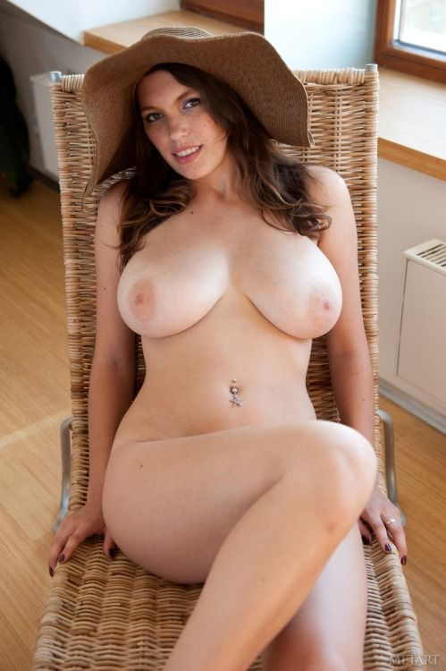 Hot naked brunette girl big tits