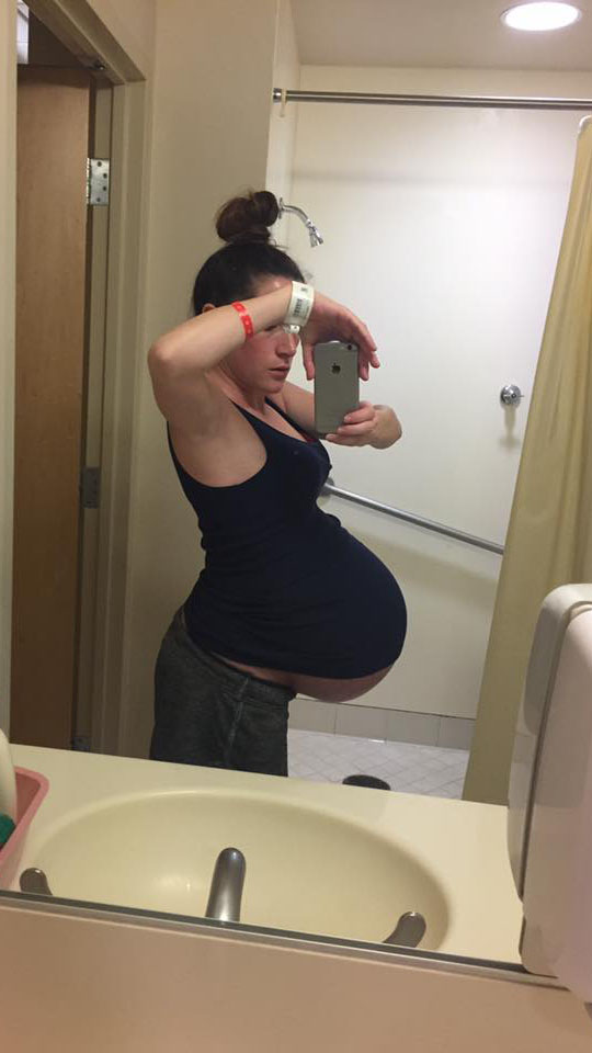 Biggest pregnant belly