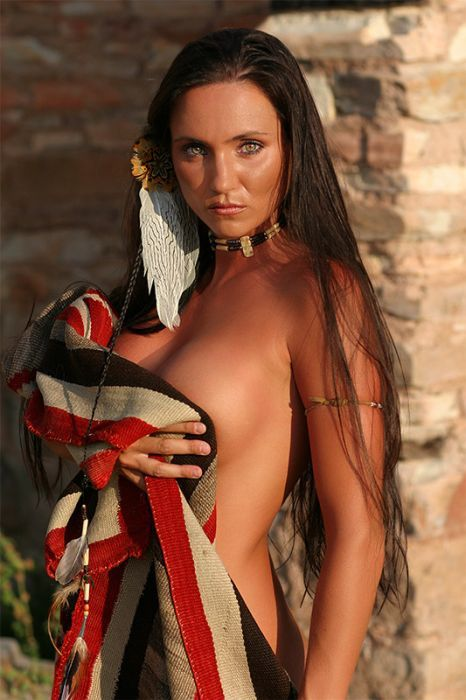 Beautiful native american indian nude