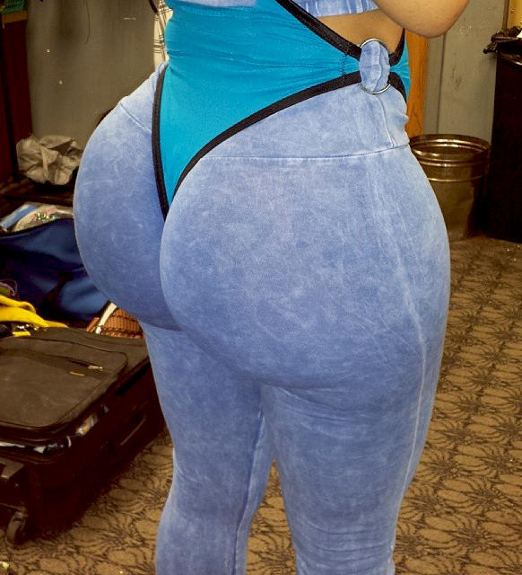 white pants ass Big