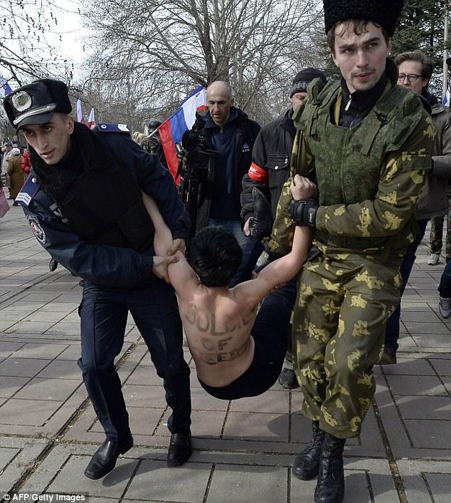 woman Crimea ukraine russian