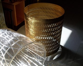 Antique gold wastebasket
