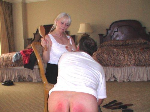 Spanking naughty boy spanked