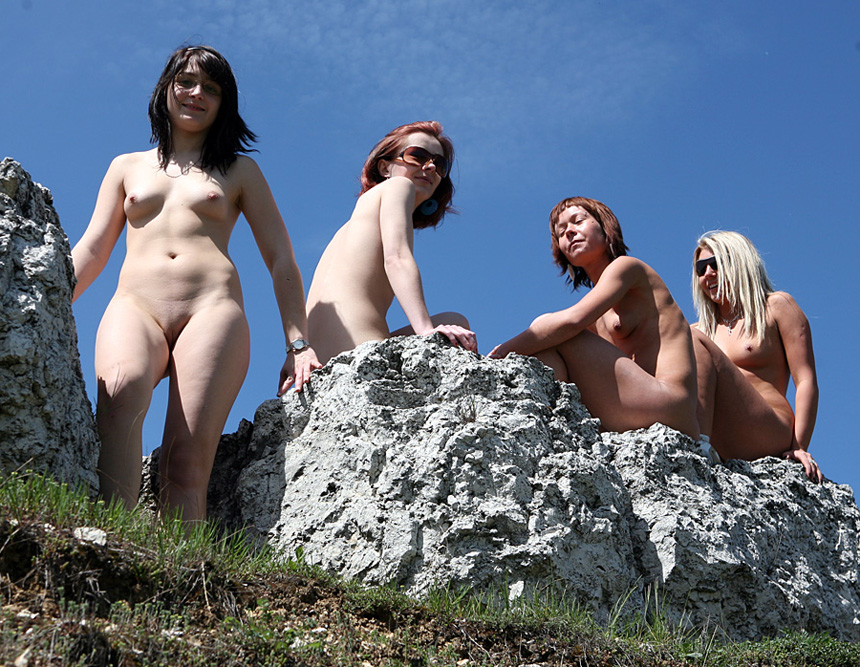Young russian bare nudists