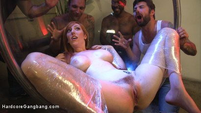 Red heads double anal gangbang