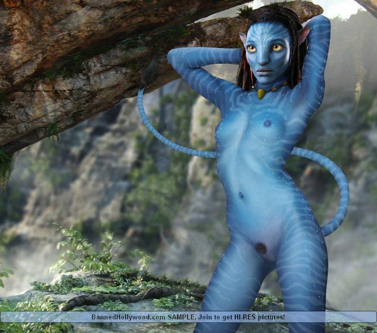 Sexy blue avatar naked