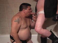 Chubby gay guys sucking