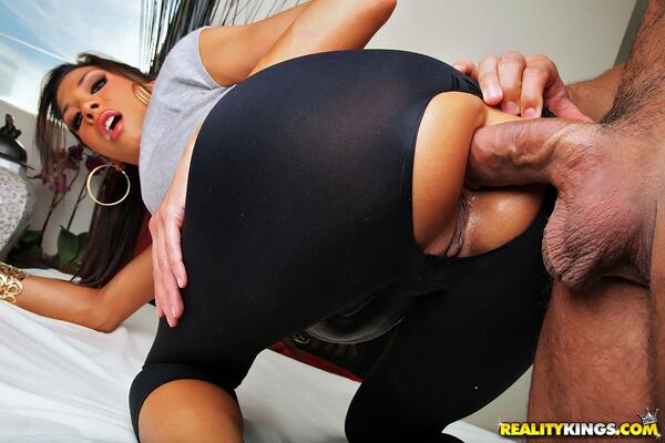 Yoga pants anal