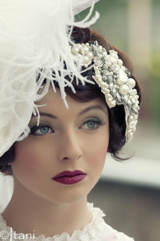 Vintage wedding makeup