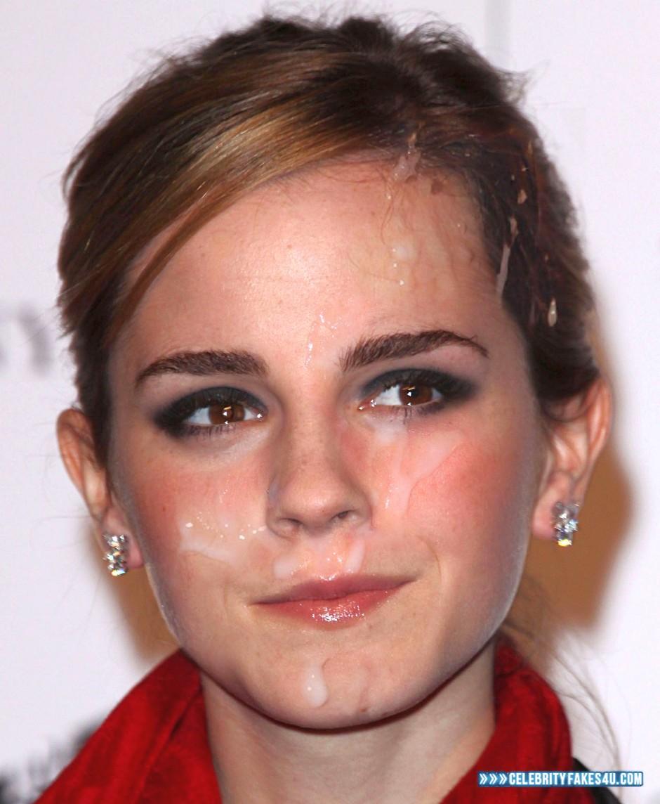Emma watson cum face