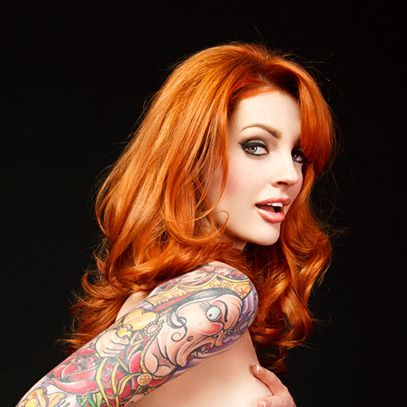 Redhead tattoo model vanessa lake nude