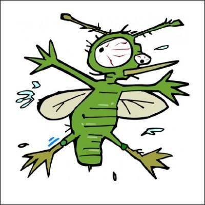 Cartoon bug splat