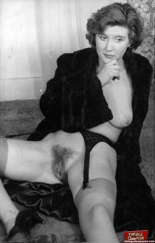 hairy pussy and white Black retro vintage
