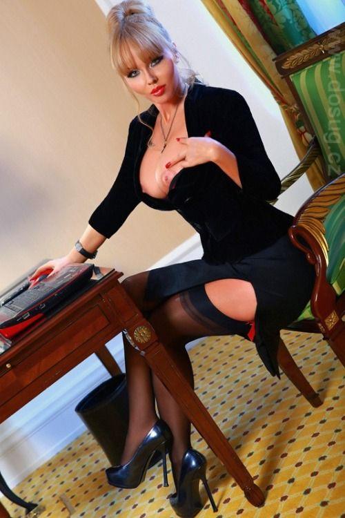 Milf secretary stocking