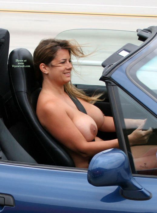 Naked women driving cars nude big tits