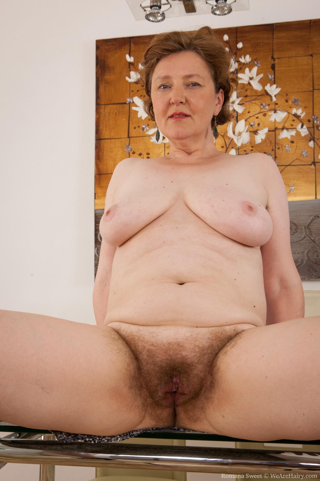 Mature naked hairy women