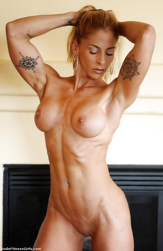 Women fitness nude body