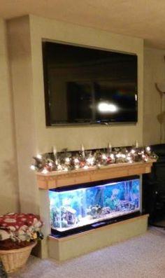 Fireplace fish tank