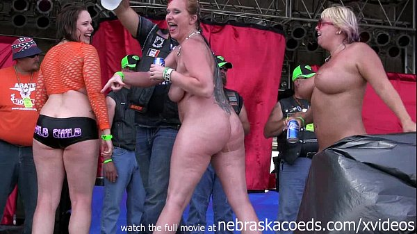 Naked biker chick contest